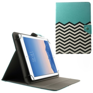 Universal Leather Stand Cover for 10.1-Inch / 9.7-Inch Tablet, Size: 279 x 180mm - Blue Chevron