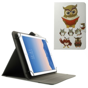 Universal Leather Stand Cover for 10.1-Inch / 9.7-Inch Tablet, Size: 279 x 180mm - Multiple Owls