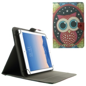 Universal Leather Case for 10.1-Inch / 9.7-Inch Tablet w/ Stand , Size: 279 x 180mm - Cute Owl