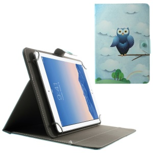 Universal Leather Case for 10.1-Inch / 9.7-Inch Tablet w/ Stand , Size: 279 x 180mm - Adorable Owl