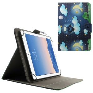 Universal Leather Cover for 10.1-Inch / 9.7-Inch Tablet w/ Stand , Size: 279 x 180mm - Owl & Stars