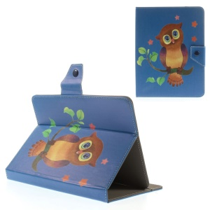 Owl & Stars Universal Leather Protective Case for iPad mini 2 3 / Samsung Galaxy Tab 3 8.0 T315 Etc, Size: 21.5 x 14cm