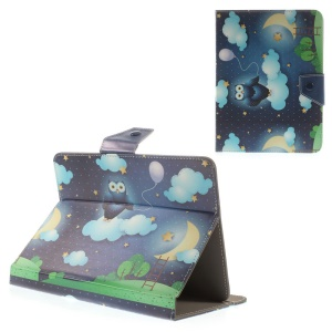 Blue Owl & Starry Sky Universal Leather Stand Cover for iPad mini 2 3 / Lenovo IdeaTab A1000 Etc, Size: 21.5 x 14cm