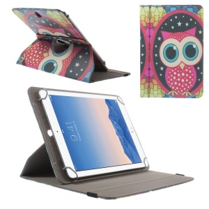 Rotary Universal Leather Case for iPad Air 2 / Amazon Kindle Fire HD 8.9, Size: 27.5 x 18.5cm - Owl & Stars