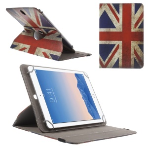 Rotary Universal Leather Cover for iPad Air 2 / Amazon Kindle Fire HD 8.9, Size: 27.5 x 18.5cm - Retro UK Flag