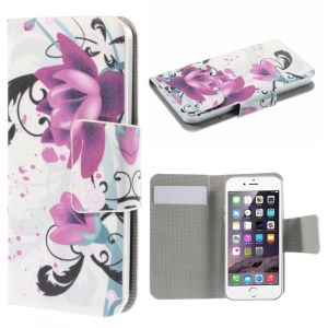 Suction Cup Leather Case for iPhone 5s / Samsung Galaxy A3 SM-A300F - Elegant Lotus