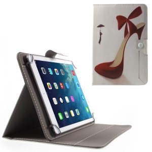 Universal Leather Stand Shell for iPad Air 2/Samsung Galaxy Tab 4 10.1, Size: 268 x 177mm - Red High-heeled Shoe