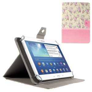 Peony and Pink Dots Stand Leather Cover for iPad Air 2 / Galaxy Tab 8.9, Size: 265x175mm