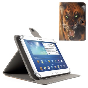 Green Eyed Leopard Magnetic PU Leather Case for iPad Air 2 / Galaxy Tab 8.9, Size: 265x175mm