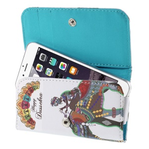 Happy Dussehra Leather Wallet Cover for iPhone 5s / Galaxy S4 mini I9190, Size: 128 x 65mm