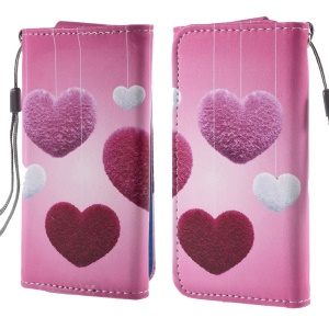Heart Shape Hanging Ornament Leather Case Size 12.6x6.2cm for Samsung Galaxy S4 mini I9190/Sony Xperia Z3 Compact/iPhone 4s/Alcatel Pop C3