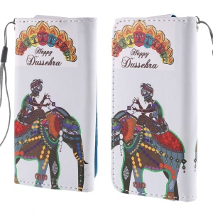 Happy Dussehra Leather Case Size 12.6x6.2cm for Samsung Galaxy S4 mini I9190/Sony Xperia Z3 Compact/iPhone 4s/Alcatel Pop C3