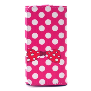 Dots & Bowknot Universal Leather Sleeve Pouch for iPhone 6 Galaxy S6/S6 edge, Size: 14.4 x 7.5 x 1.5cm