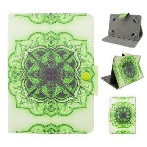 PU Leather Flip Cover for Galaxy Tab E 9.6 / iPad Air 2, Size: 265 x 177mm - Green Henna Lotus