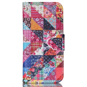 Wallet Leather Phone Case for iPhone 5c - Various Flowers