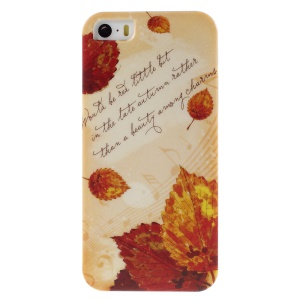 PQY Plastic Hard Case Cover for iPhone 5s 5 - Autumn Leaves and Melody