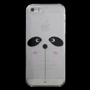 KAVARO Patterned Clear PC Hard Case Cover for iPhone 5s 5 - Cute Panda Face