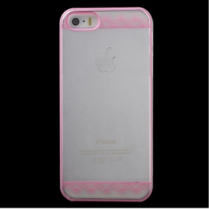 KAVARO Patterned Clear PC Hard Case Accessory for iPhone 5s 5 - Flower Lace
