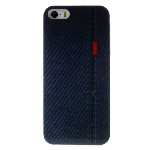 KAVARO Jeans Series Hard Plastic Cover for iPhone 5s 5 - Stitching Blue Jeans