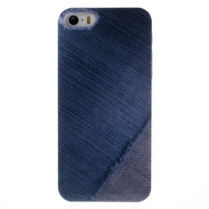 KAVARO Jeans Series PC Hard Case Cover for iPhone 5s 5 - Vivid Blue Jeans Texture