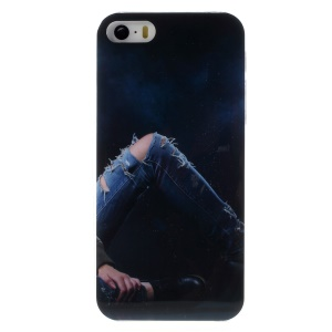KAVARO Jeans Series Hard Phone Cover for iPhone 5s 5 - Distressed Ripped Blue Jeans