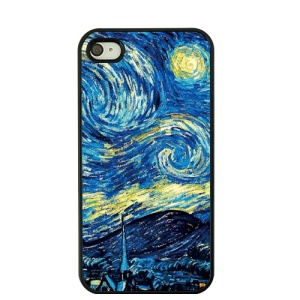 For iPhone 4S / 4 Van Gogh Masterpiece Oil Painting Plastic Cover - Starry Night Sky