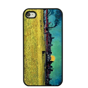 Oil Painting by Vincent Van Gogh Hard Cover for iPhone 4S / 4 - Wheat Field