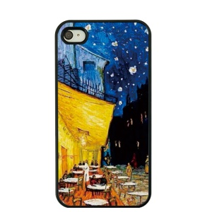 Oil Painting by Vincent Van Gogh Hard Back Case for iPhone 4S / 4 - Cafe Terrace at Night