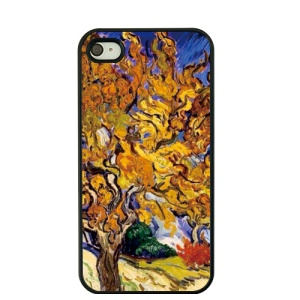 Oil Painting by Vincent Van Gogh Hard Back Cover for iPhone 4S / 4 - Mulberry Tree