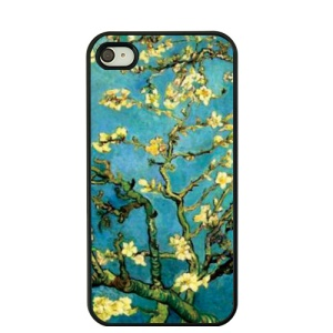 Van Gogh Oil Painting Hard Case Cover for iPhone 4S / 4 - Almond Tree in Blossom
