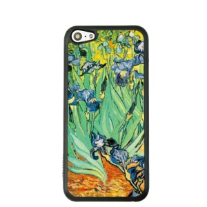 For iPhone 5c Oil Painting Style Plastic Cover Shell Case - Irises