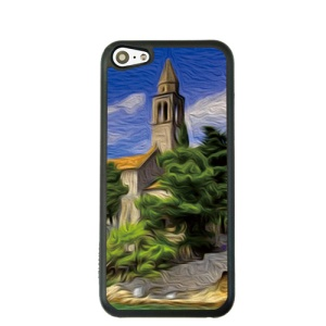 Oil Painting Style for iPhone 5c Hard Cover Protector - Seaside Castle