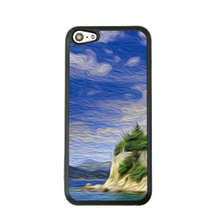 Oil Painting Style for iPhone 5c Hard Cover Protector - Seaside