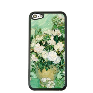 Oil Painting Style for iPhone 5c PC Shell Cover Protector - Roses