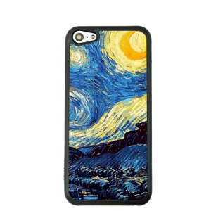 Oil Painting Style for iPhone 5c Hard Back Case - Starry Night