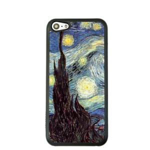 Oil Painting Style for iPhone 5c Hard Cover Protector - The Starry Sky