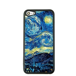 Oil Painting Style for iPhone 5c Hard Cover Protector - Bright Starry Sky