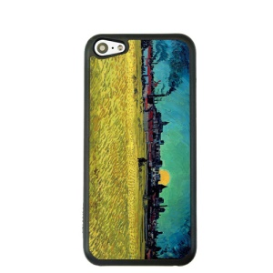 Oil Painting Style for iPhone 5c Hard Cover Protector - Wheat Field
