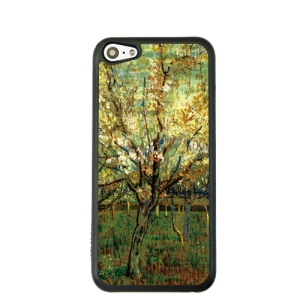 Oil Painting Style for iPhone 5c Hard Cover Protector - Blossoming Orchard