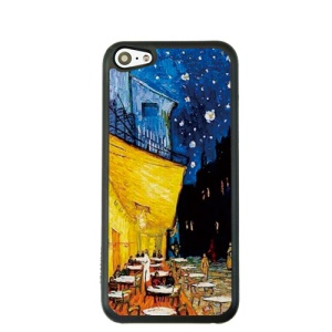 Oil Painting Style for iPhone 5c Hard Cover Protector - Cafe Terrace at Night