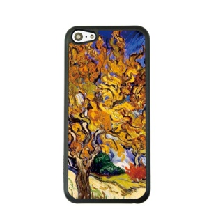 Oil Painting Style for iPhone 5c Hard Plastic Case - Mulberry Tree