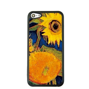 Oil Painting Style for iPhone 5c Hard Cover Protector - Sunflower