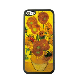 Oil Painting Style for iPhone 5c Hard Cover Protector - Sunflower in the Vase