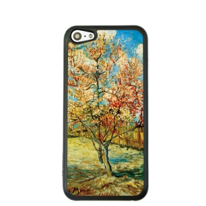 Oil Painting Style for iPhone 5c Hard Cover Shell - Peach Tree