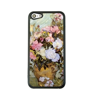 Oil Painting Style for iPhone 5c Hard Cover Protector - Roses