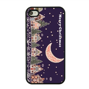 Christmas Series Hard Plastic Case for iPhone 4s / 4 - Christmas Night