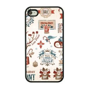 Christmas Series Hard Plastic Shell for iPhone 4s / 4 - Christmas Sale