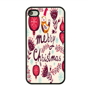 Christmas Series Hard PC Back Case for iPhone 4s / 4 - Merry Christmas Pattern