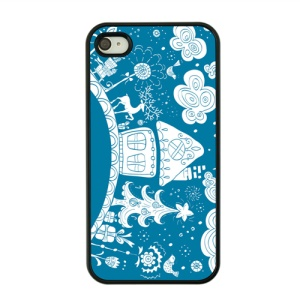 Christmas Series Hard Protective Cover for iPhone 4s / 4 - Christmas Trees and Gifts