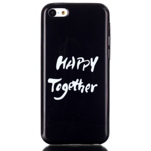 IMD TPU Phone Protective Cover Shell for iPhone 5C - Happy Together